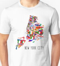 United Flags of New York City T-Shirt