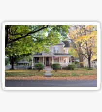 Gracious Old Home in Autumn Sticker