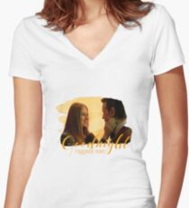 Raggedy Man, Goodnight / Amy Pond / Doctor Who  Women's Fitted V-Neck T-Shirt