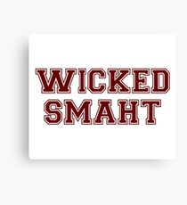 Wicked Smart (Smaht) College Boston Canvas Print