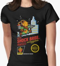 Super Shock Bros Womens Fitted T-Shirt
