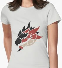Monster Hunter - Rathalos Head Womens Fitted T-Shirt