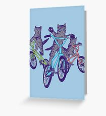 BMX Kittens Greeting Card