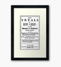 Historical Pirate Trials Framed Print