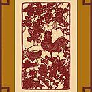 Chinese Zodiac Year of The Rooster Papercut by ChineseZodiac