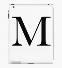 The Letter 'M' iPad Case/Skin