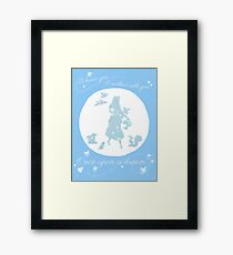 Once Upon a Dream (Make it Blue!) Framed Print