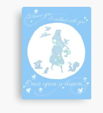 Once Upon a Dream (Make it Blue!) Canvas Print