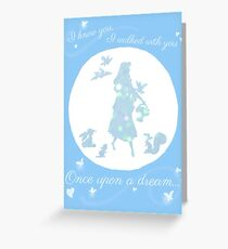 Once Upon a Dream (Make it Blue!) Greeting Card