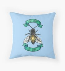 Don't Worry Bee Happy  Throw Pillow