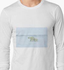 Polar Bear and Cub Long Sleeve T-Shirt