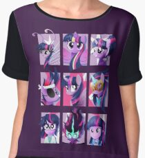 Forms of Twilight Sparkle Women's Chiffon Top