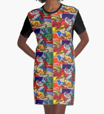 Endless Music Graphic T-Shirt Dress