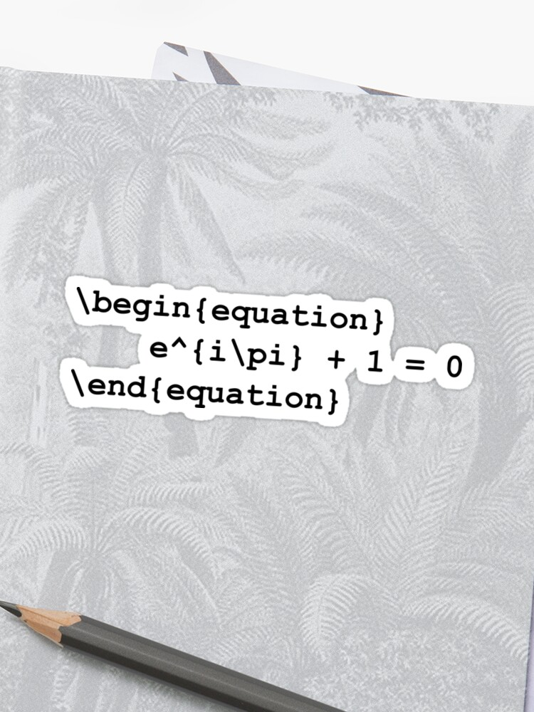 Euler identity - LaTeX code | Sticker
