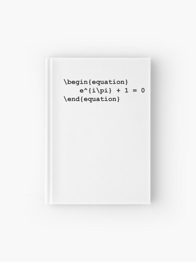 Euler identity - LaTeX code   Hardcover Journal