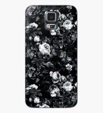 Rosen Schwarz und Weiß Hülle & Klebefolie für Samsung Galaxy