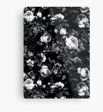 Roses Black and White Metal Print