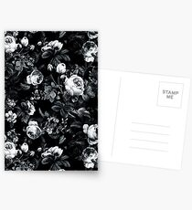 Roses Black and White Greeting Card