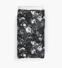 Roses Black and White Duvet Cover