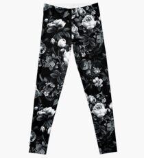 Roses Black and White Leggings