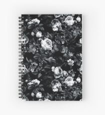 Roses Black and White Spiral Notebook