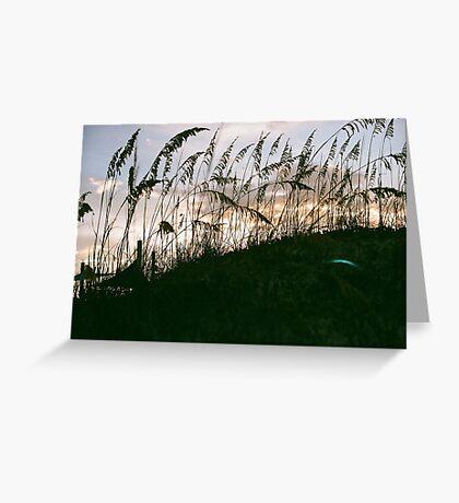 East Coast Sunset Greeting Card