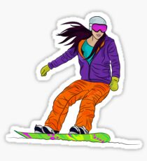 Snowboarder girl Sticker