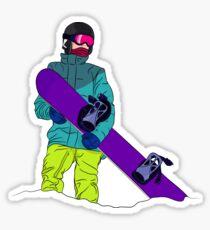 Snowboarder man with snowboard Sticker