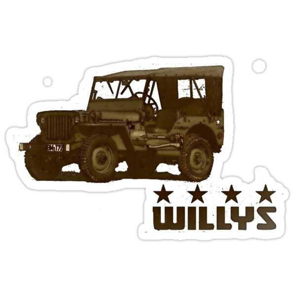 """""""Willys Jeep"""" Stickers by pitfire   Redbubble"""