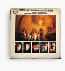 The Velvet Underground & Nico, Mono Rückseite ORIGINAL Leinwanddruck
