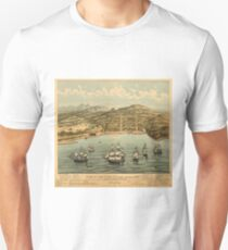 Vintage Pictorial Map of San Francisco (1884)  Unisex T-Shirt