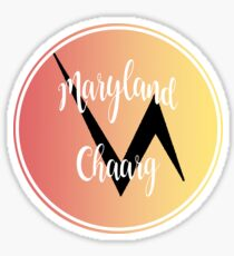 Maryland Chaarg Circle Print Sticker