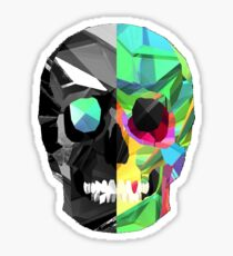 2 Sided Skull Sticker