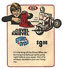 Ideal Evel Knievel Stunt Cycle Advertisement by PlaidStallions