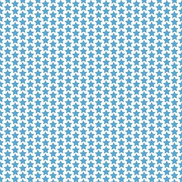 Blue stars pattern by Lukovka