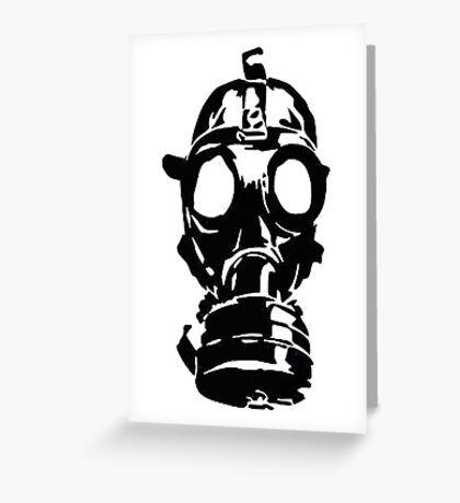 GAS MASK ver 0001 Greeting Card