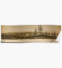 Vintage Pictorial Map of Victoria Vancouver (1860) Poster