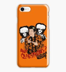David S Pumpkins, Any Questions? iPhone Case/Skin