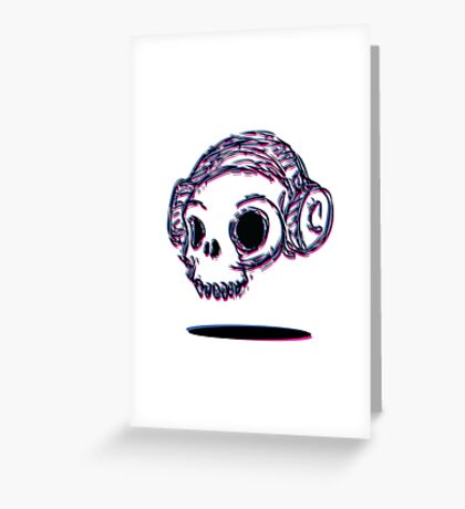 3D Skull Greeting Card
