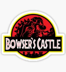 Bowser's Jurassic Castle Sticker