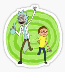 Stoner Rick And Morty Sticker