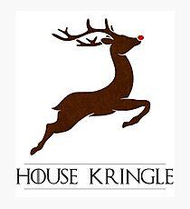 House Kringle Santa Red Nosed Reindeer Sigil Photographic Print