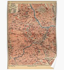 Vintage Map of Vienna Austria (1920) Poster
