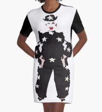 Divine Cutout  Graphic T-Shirt Dress