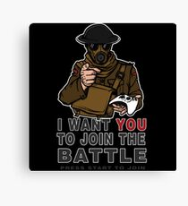 Join the Battle Canvas Print