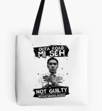 Out A Road #FREEWORLBOSS BLACK Tote Bag