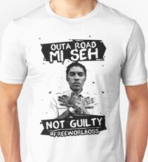 Out A Road #FREEWORLBOSS BLACK Unisex T-Shirt