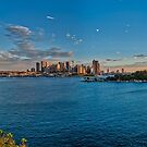 Panoramic of Harbour bridge and city, Sydney Australia by Allan Saben