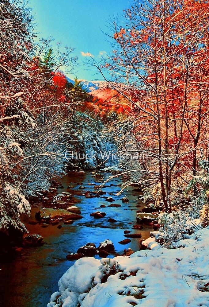 AUTUMN SNOW,LITTLE RIVER by Chuck Wickham