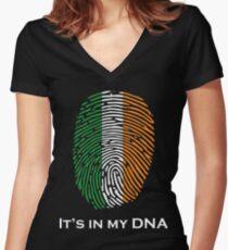 I'm Irish, It's in my DNA! Women's Fitted V-Neck T-Shirt